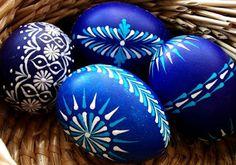 Czech easter egg painting