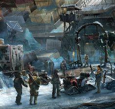 The Ice Bandit Market, Brian Higgins on ArtStation at… Post Apocalypse, Apocalypse Aesthetic, Brian Higgins, Cyberpunk, Post Apocalyptic Art, Pokemon, Futuristic Art, Science Fiction Art, Rpg
