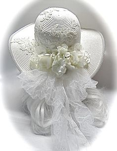 Fancy Hats, Cool Hats, Bridal Hat, Bridal Headpieces, Wedding Hats, Wedding Veils, Wedding Ideas, Victorian Hats, Silk Roses