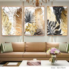 Nordic Tropical Gold Leaves Abstract Wall Art Posters Art Canvas Prints For Fashion . - Nordic Tropical Gold Leaves Abstract Wall Art Posters Art Canvas Prints For Modern Office Or, - Framed Wall Art, Wall Art Decor, Room Decor, Gold Wall Art, Gold Art, Canvas Art Prints, Wall Canvas, Living Room Canvas Wall Art, Paintings For Living Room