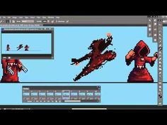 Planet Centauri - How to Pixel Art part 2 : Monk attack animation! - YouTube