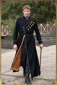 Steampunk military gentlemen's coat. The Goblin Ball: Ember Rule, Melbourne, Australia. 14th June 2014. www.thegoblinball.com