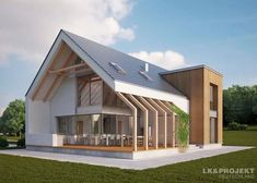 House project: LK & 1174 - ExclusiveHAUS: Living at the highest level - architecture - Fachadas Facade Design, Exterior Design, Architecture Design, Security Architecture, Exterior Signage, Facade House, House Facades, Modern Exterior, Colonial Exterior