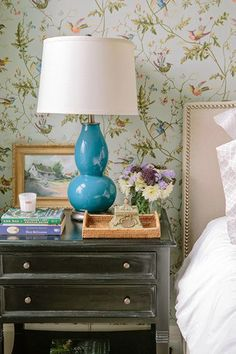 The Zhush: Style Stalking: Kathryn Ivey Interiors. Cole & Son Hummingbirds