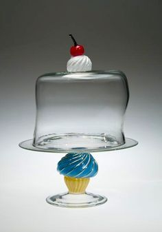 With a Cherry on Top Cupcake Cake Plate