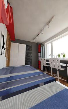Pokój dwóch chłopców | AWX2 ARCHITEKCI Contemporary, Rugs, Home Decor, Farmhouse Rugs, Decoration Home, Room Decor, Home Interior Design, Rug, Home Decoration