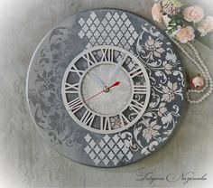 VK is the largest European social network with more than 100 million active users. Clock Craft, Diy Clock, Clock Decor, Clock Face Printable, Lit Wallpaper, Decoupage Vintage, Wood Clocks, Idee Diy, Miniature Crafts