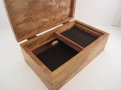 Men's Valet Box With Phone Charging, Arizona Ash