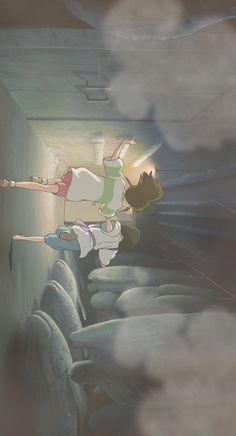 Movies Wallpaper para iPhone a partir de Uploaded by user Studio Ghibli Art, Studio Ghibli Movies, Animes Wallpapers, Cute Wallpapers, Kawaii Wallpaper, Iphone Wallpaper, Movies Wallpaper, Chihiro Y Haku, Japon Illustration