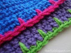 Fiber Flux: How to Crochet Blanket Stitch Edging #crochettricks #blanketstitch #crochetblanketstitch