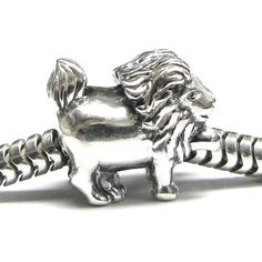 Queenberry Sterling Leo Zodiac European Bead Charm