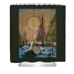 Sunrise In The Pelican State by Creole Cajun Folk Artist Seaux N. Seau Soileau on shower curtains.  Perfect for giving a room a Cajun Creole flair.