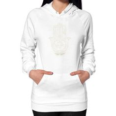 Hamsa Hand of Fatima Hoodie (on woman)