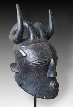 Hornet helmet mask (special bwoom-type), tribe of the Kuba, Congo