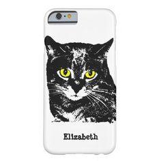 Mysterious Transparent Black Cat Phone Case