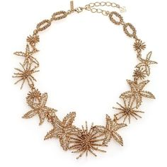 Oscar de la Renta Starfish Necklace ($715) ❤ liked on Polyvore featuring jewelry, necklaces, apparel & accessories, gold, star fish necklace, starfish jewelry, gold tone jewelry, gold tone necklace and oscar de la renta jewelry