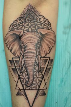 Nikki Elephant Mandala at Fy Ink in Torontosubmitted byhttp://fyinktattoos.tumblr.com