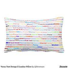 Varna Text Design II Lumbar Pillow
