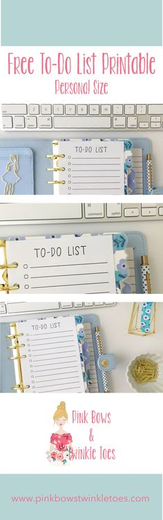 Free Printable Personal Size To-Do List for Your Planner from Pink Bows & Twinkle Toes
