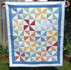 Baby boy pinwheel quilt   Flickr - Photo Sharing!