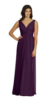Jim Hjelm 5401 Violet in Chiffon | Weddington Way