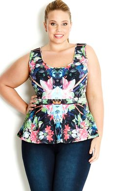City Chic - DREAM PEPLUM TOP - Women's plus size fashion #citychic #citychiconline #newarrivals #plussize #tops
