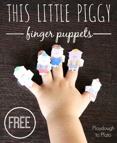 Print these free finger puppets to go with the fun rhyme for kids, Here is the Beehive.
