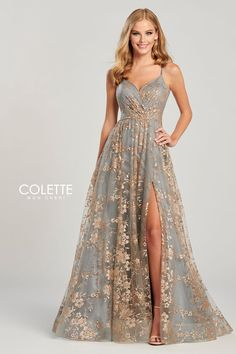 Own who you are in a prom dress from Colette for Mon Cheri! From two piece styles to long sleeve looks, Colette for Mon Cheri has every prom dress style you could ever want. Pretty Prom Dresses, Grad Dresses, Ball Dresses, Homecoming Dresses, Beautiful Dresses, Formal Dresses, Plus Size Prom Dresses, Different Prom Dresses, Ball Gowns Prom