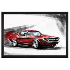 Upgrade your home bar or bedroom art with this Hatcher & Ethan Red Beauty Canvas Wall Art . This is a fine-art print on canvas that comes in size options. Art Cabinet, Body Drawing Tutorial, Canvas Wall Art, Canvas Prints, Car Drawings, Unique Wall Art, Watercolour Tutorials, Automotive Art, Car Painting