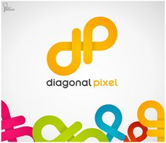 this is a logo design for Diagonal pixel , its a website that Im making with a partner , and we'll be selling wordpress templates and offer web design services . the logo forms the initials of Diagonal Pixel .