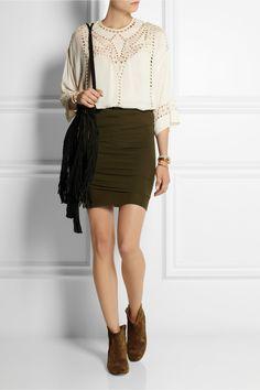 Isabel Marant Lou cashmere mini skirt NET-A-PORTER.COM