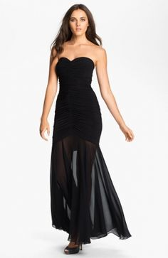 Strapless Black Prom Dress Black Strapless Dress, Black Prom Dresses, Strapless Dress Formal, Cheap Summer Dresses, Dress P, Passion For Fashion, Cocktail, Style Inspiration, Gowns