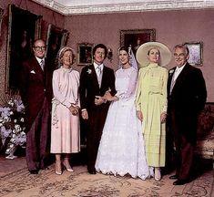 Grace Kelly en la boda de su hija, Carolina de Mónaco, con Philippe Junot