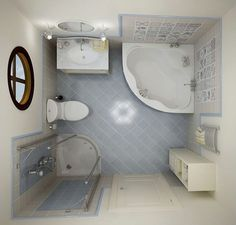 Inspirational Small Bathroom Ideas With Corner Tub Also Vanities As Well As Small Corner Amazing Showers In Tiny Bathroom Decors Small Bathroom Layout, Very Small Bathroom, Small Bathtub, Simple Bathroom, Small Soaker Tub, Small Bathroom Plans, Serene Bathroom, Classic Bathroom, Bathroom Colors