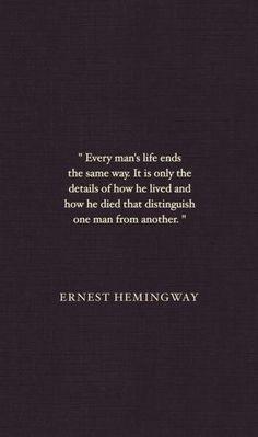 Vor ein paar Tagen (bei Pinterest – wo sonst??) bin ich über ein paar Zitate von Ernest Hemingway gestolpert und will sie mit Euch teilen, da wir alle kurz innehalten und an uns und an die Menschen um uns herum denken müssen:  via Marc Jacobs's CribRecently…Note to selfHow to lose weightWhere have you been all my Life? Facebook Pinterest ...