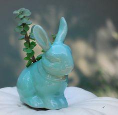 #NewYearNewBed Ceramic rabbit planter
