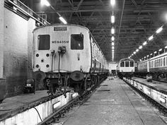 Class 506) LNER 1'500volts dc emu in Longsight depot, Manchester in the early…