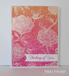 Large flower Background: HA, embossed, distress inks, used a paint brush to add the perfect pearls and water mixture to the flowers, a mix with less perfect pearls to do the stems and leaves. I Scrappin' Navy Wife:
