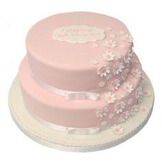 daisy cakes | White Daisy Christening Cake 2