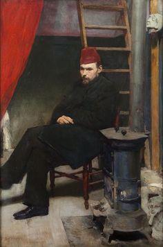 Józef Mehoffer,Portrait ofLaszczki,1894. Oil on canvas,145 x 100cm.