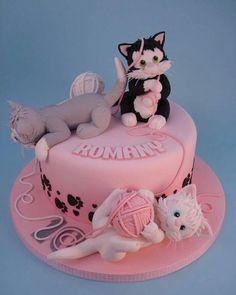 cat birthday cake for kids \ cat birthday cake . cat birthday cake for cats . cat birthday cake for kids . cat birthday cake for women . Pretty Cakes, Cute Cakes, Fondant Cakes, Cupcake Cakes, Kitten Cake, Birthday Cake For Cat, Birthday Kids, Birthday Kitten, Birthday Parties