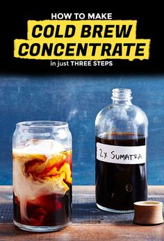 We're all guilty of spending way too much money on those darling bottles of cold brew at our local third-wave coffee shop. Turns out, it's actually way too easy to make DIY cold brew at home. Fill a large measuring cup with coarsely ground coffee (think: the stuff you'd put in a French press).