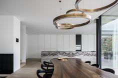 Keukenvloer ideeen minimalistische natuurstenen vloer woonkamer