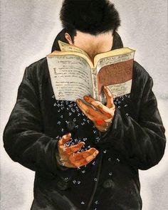 Lluvia de letras. Ilustración de Kyungduk Kim                              …