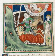 'behold a pale horse, & he that sat upon him, his name was Death, & hell followed him', BL Royal 19 B XV