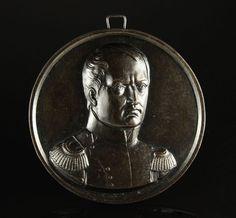 Napoleon Berliner Eisen Plakette KPEG um 1830 Fer de Berlin Cast Iron