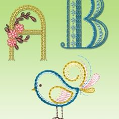 To the Letter - alphabet embroidery designs and patterns