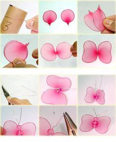 Resultado de imagen para como hacer flores con medias y alambre