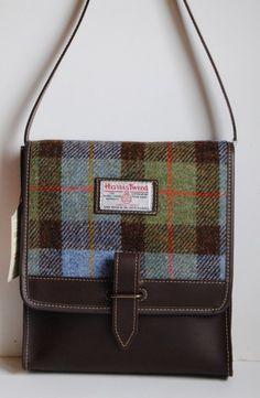 3b2c3f1d841a A sturdy Harris Tweed shoulder bag with leather trim Scottish Plaid