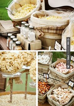 popcorn bar for late night and take aways...